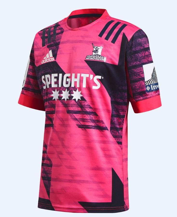 HIGHLANDERS TRAINING JERSEY - Shock Pink/Punjab
