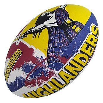 GILBERT SUPER RUGBY SUPPORTER HIGHLANDERS RUGBY BALL