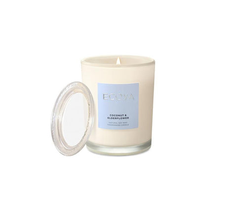 Ecoya metro coconut elderflower candle 270g