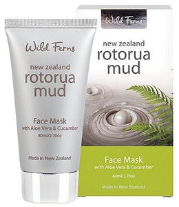 Wild Ferns Rotorua Mud Face Mask With Aloe Vera & Cucumber 80ml