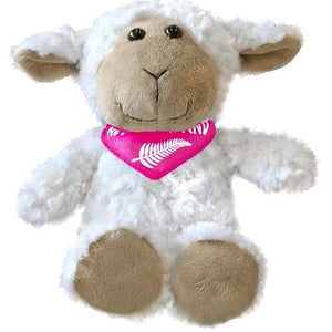 SHEEP SITTING 21CM PINK SCARF