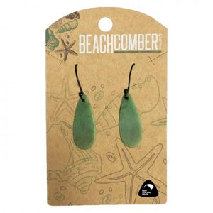 NZ Pounamu Earrings Teardrop