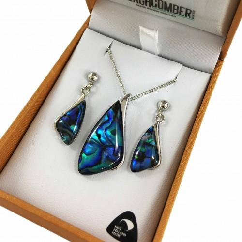 Paua Set Silver Plated  - Shape 2