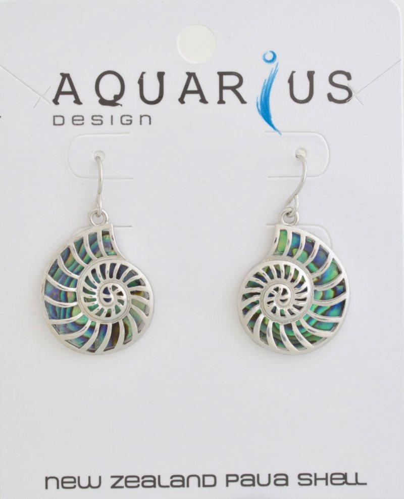 Paua nautilus earrings