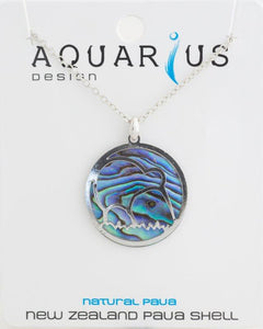 Paua cut out kiwi pendant