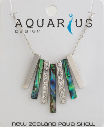 Paua crystal flared necklace