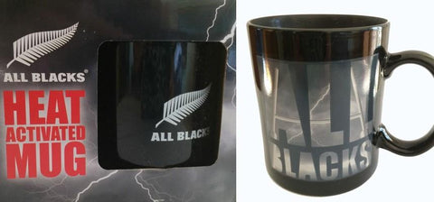 NEW ZEALAND ALL BLACKS RUGBY UNION HEAT ACTIVATED MUG COFFEE CUP