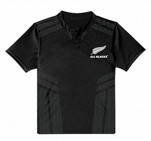 NEW ZEALAND ALL BLACKS AUTHENTIC TRAINING JERSEY - CHILDS SIZE 8