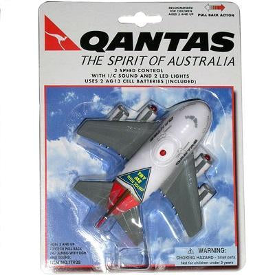 TOYTECH TT928 QANTAS PULLBACK WITH LIGHT & SOUND MODEL AIRPLANE