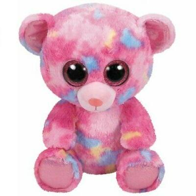 TY BEANIE BOOS MEDIUM FRANKY THE COLOURFUL BEAR