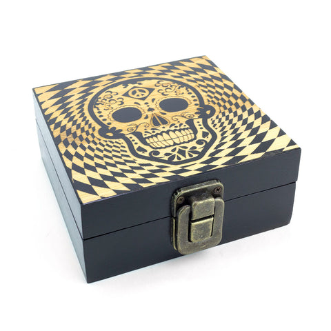 Stash Wood Box. Skull