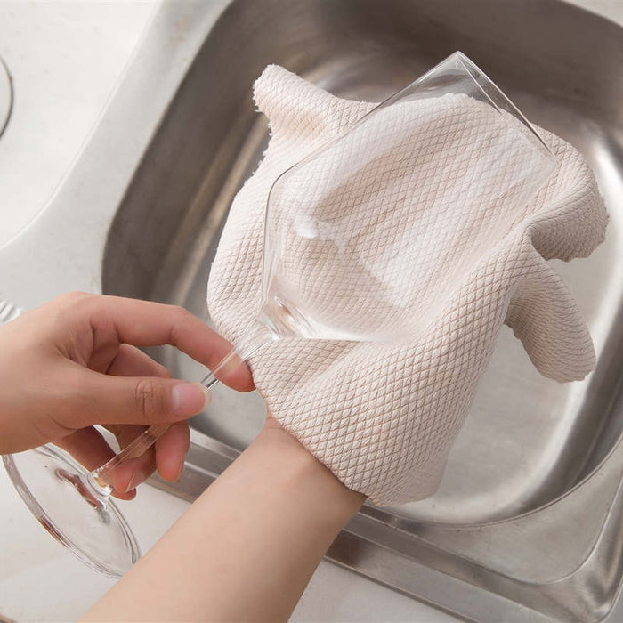 NEW!FISH SCALE MICROFIBER POLISHING CLEANING CLOTH