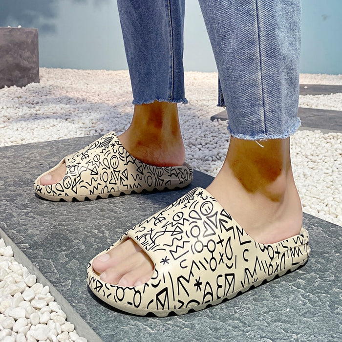 Couple Platform Slippers