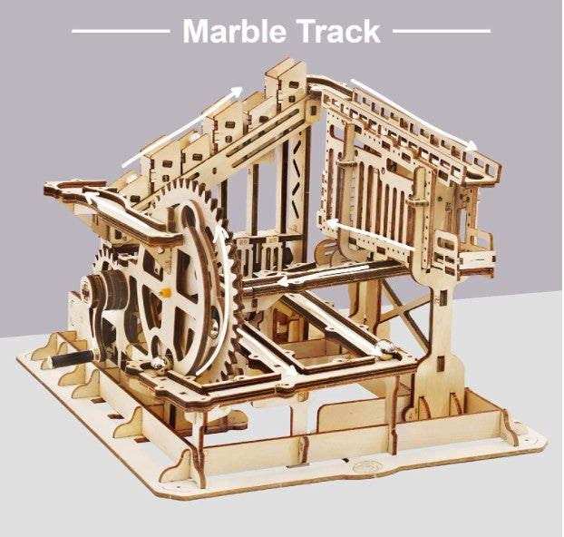 3D Wooden Puzzle Marble Run Model