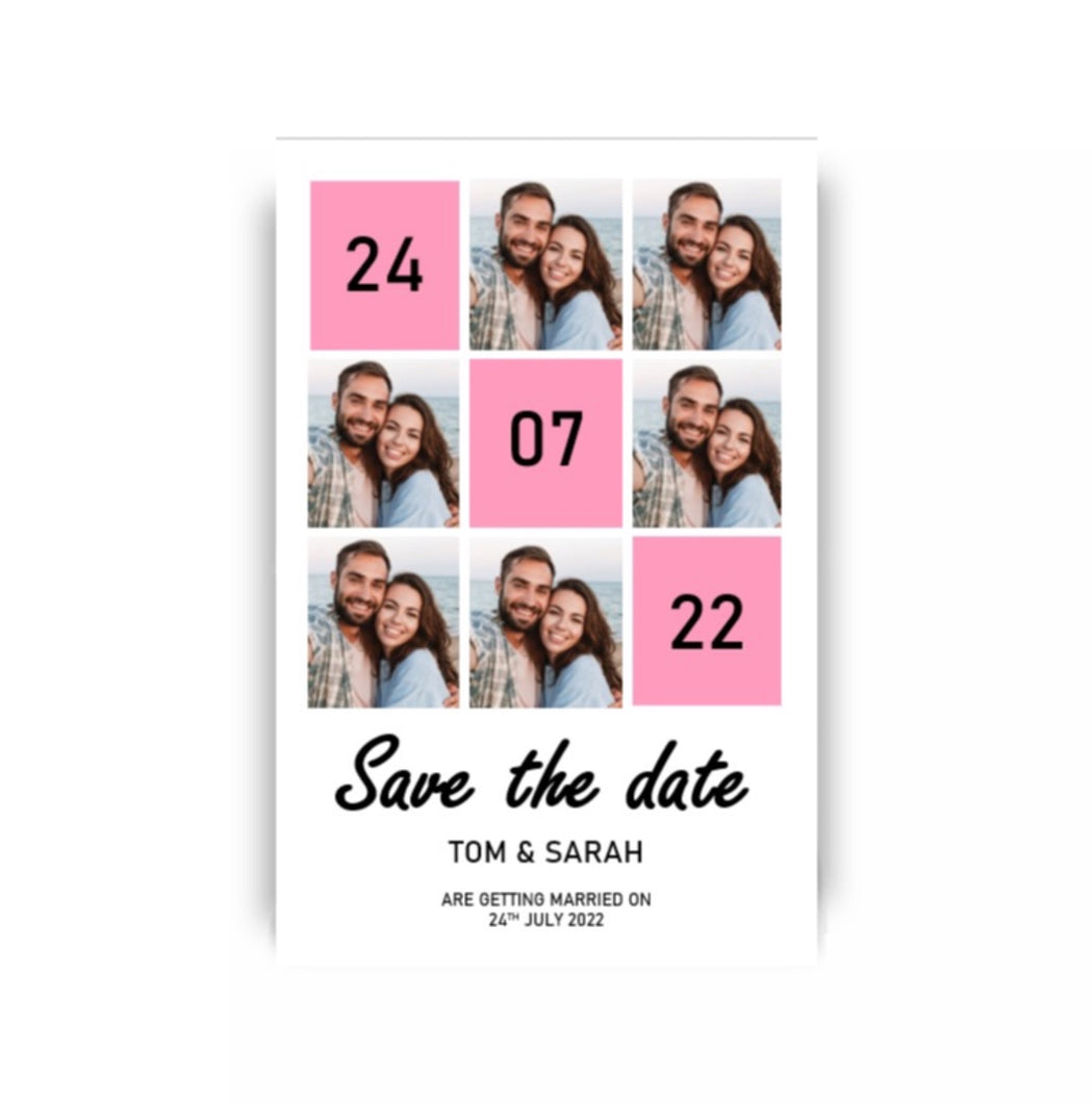 Qropstar save the dates front image multiple ohotos