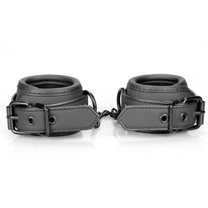 Fetish Black Shadow Handcuffs (Vegan Leather) - sextra69