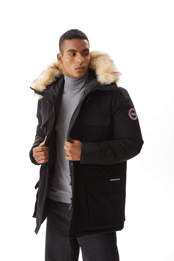 Men`s Down Alternative Parka PX01 black