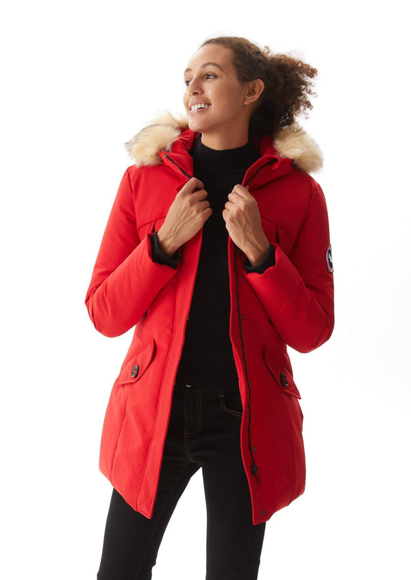 Women`s Down Alternative Parka PX13 red