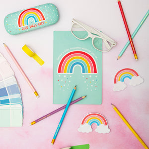 Chasing Rainbows Spread Happiness A5 Notebook