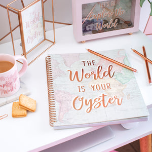 World Explorer A4 Lined Notebook