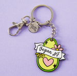 Load image into Gallery viewer, Keyring Vegan AF Enamel