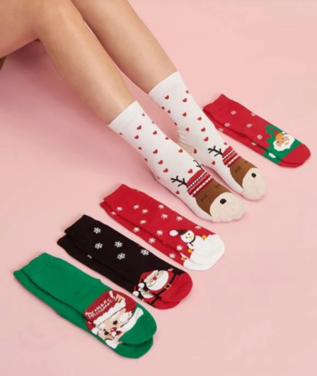 Socks Christmas Cartoon (Multi choice)