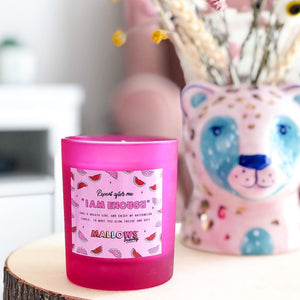I Am Enough Candle - Watermelon