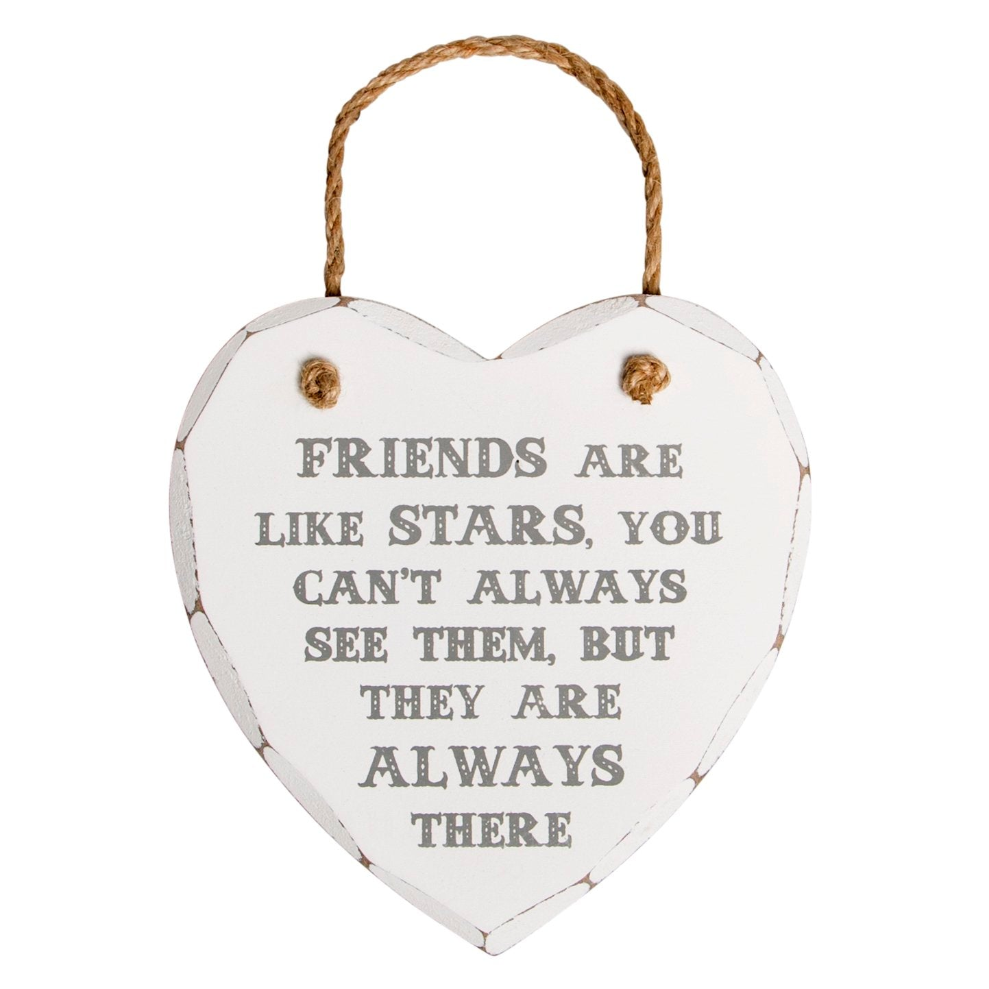 Plaque Friends Are Like Stars Heart