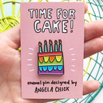 Load image into Gallery viewer, Time for Cake! Rainbow Birthday Cake Pin