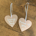 Load image into Gallery viewer, Personalised Rose Gold Mirrored Hearts