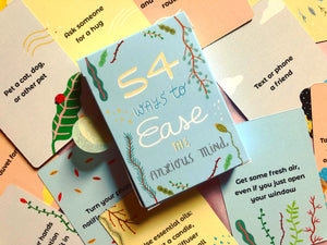 54 Ways to Ease The Anxious Mind Card Pack