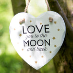 Load image into Gallery viewer, Plaque Love You to the Moon Golden Stars Heart