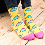 Load image into Gallery viewer, Stegosaurus Socks