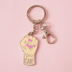 Keyring Girls Can Enamel