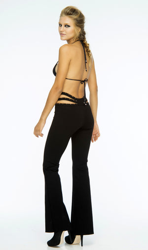 INDAH Dominique Studded Spandex Flare Pant