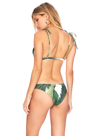 Beach Riot Marina Top x Sandy Bottom Bikini in Palm Print