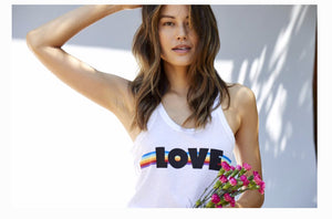 Love Rainbow Wilder Tank by good hYOUman