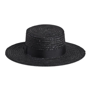 Lack Of Color Spencer Noir Boater Hat