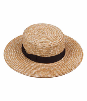 Lack Of Color The Spencer Boater Natural Woven Straw Hat