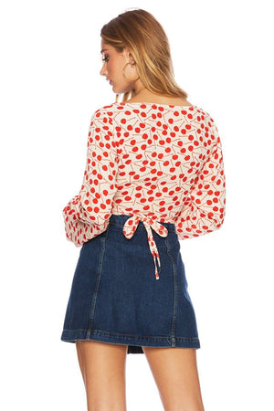 Beach Riot Cherry Print Dover Top