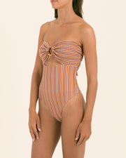 India One Piece | 1970's Stripe