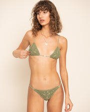 VELZY TOP | Olive Crochet