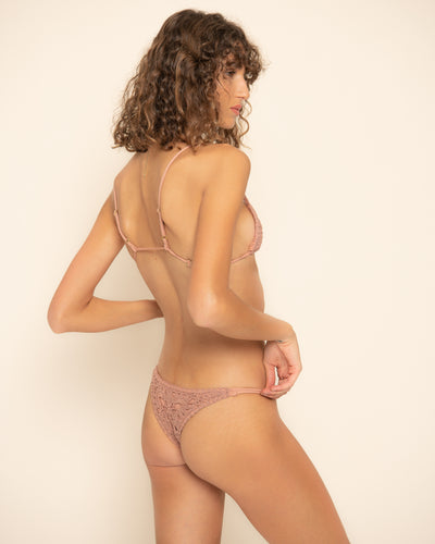 VELZY BOTTOM | Mauve Crochet