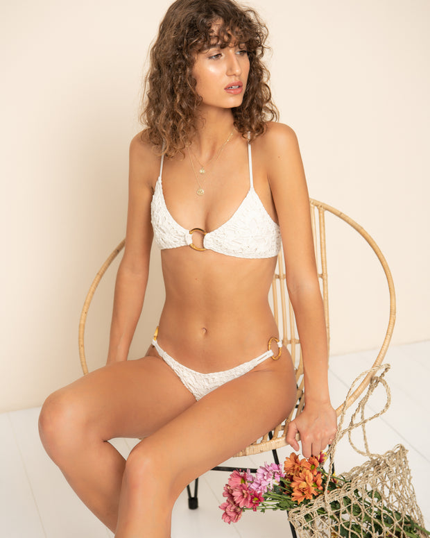 MALIBU BOTTOM | Ivory Crochet