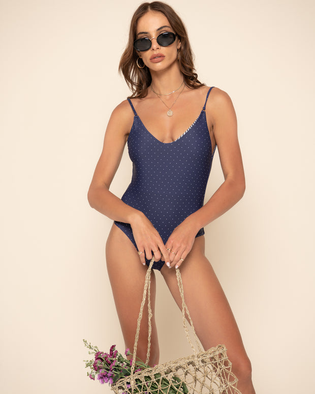 CAMILLA ONE PIECE | Selita Polka Navy