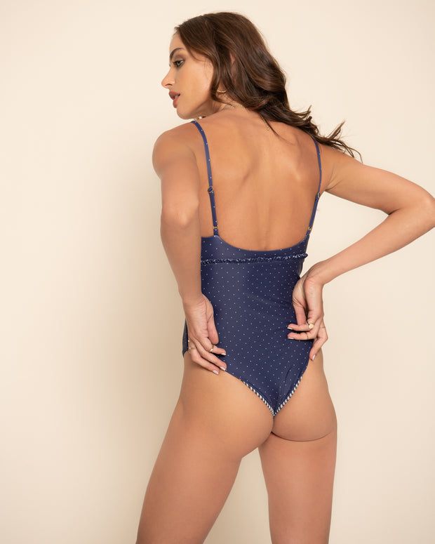 NADINE ONE PIECE | Selita Polka Navy
