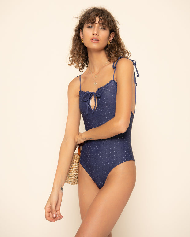 ALMEERA ONE PIECE | Selita Polka Navy