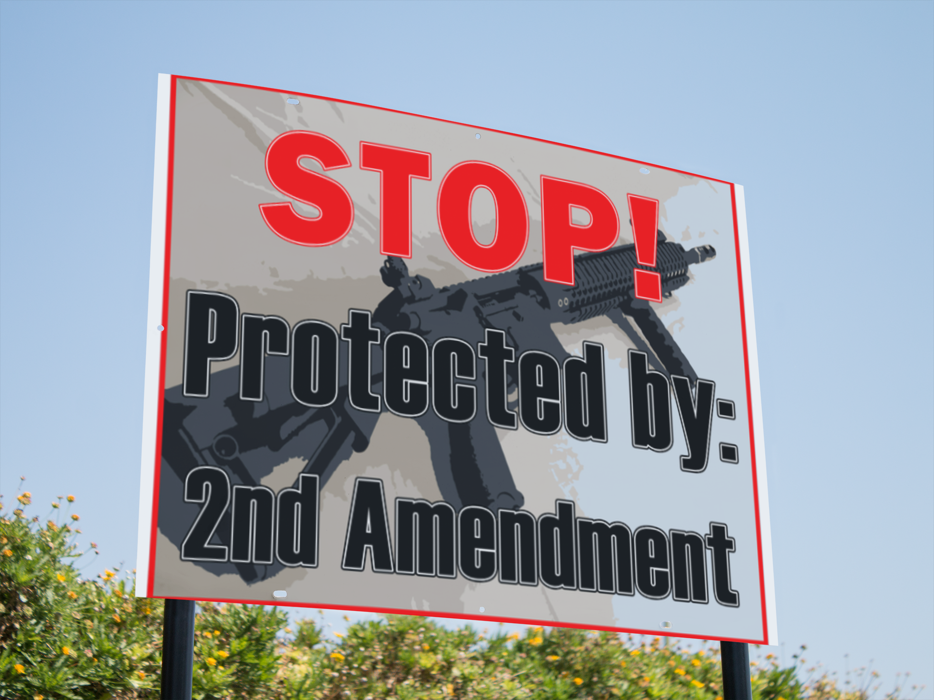 "2nd Amendment Yard Signs 24""x18"""