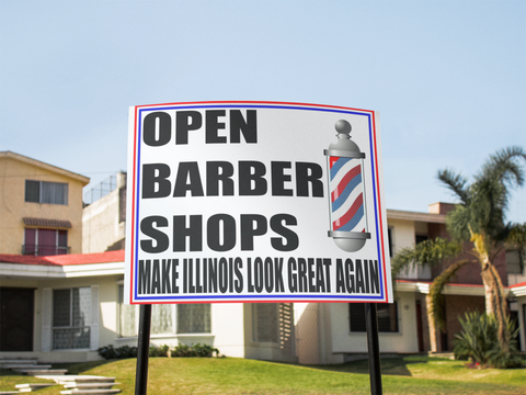 "Open Barber Shops Sign 24""x18"""
