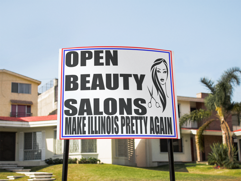 "Open Beauty Salons Sign 24""x18"""